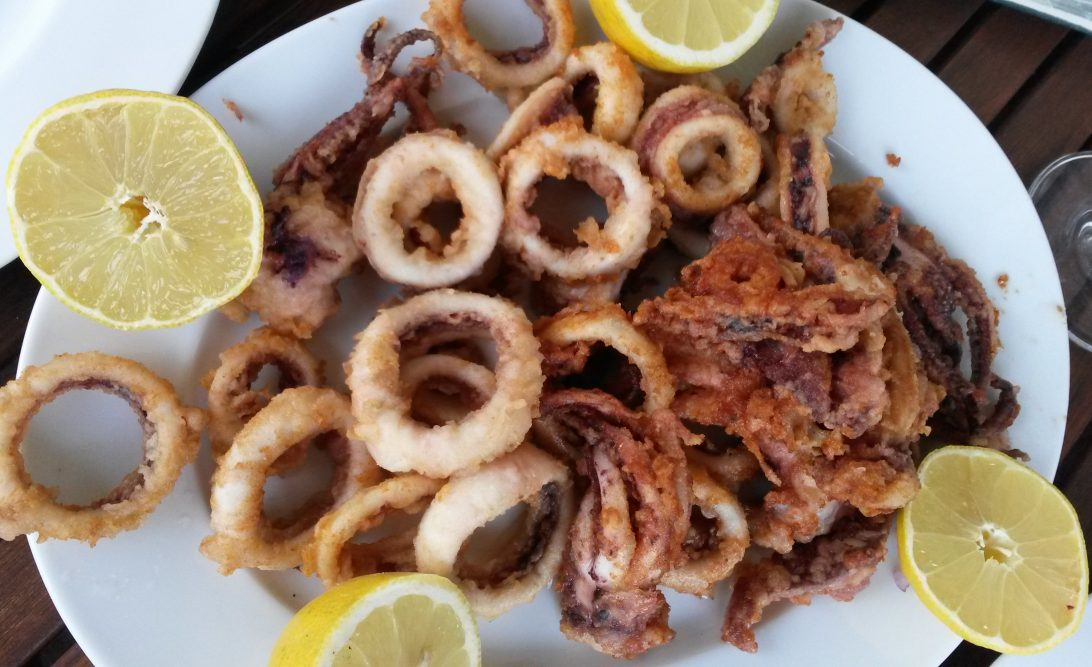 Leckere und frische Frittura di pesce