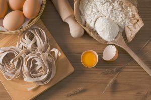 Pasta, Eier, Mehl, Nudelholz