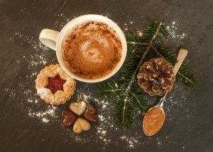 Weihnachten, heiße Schokolade, Gebäck
